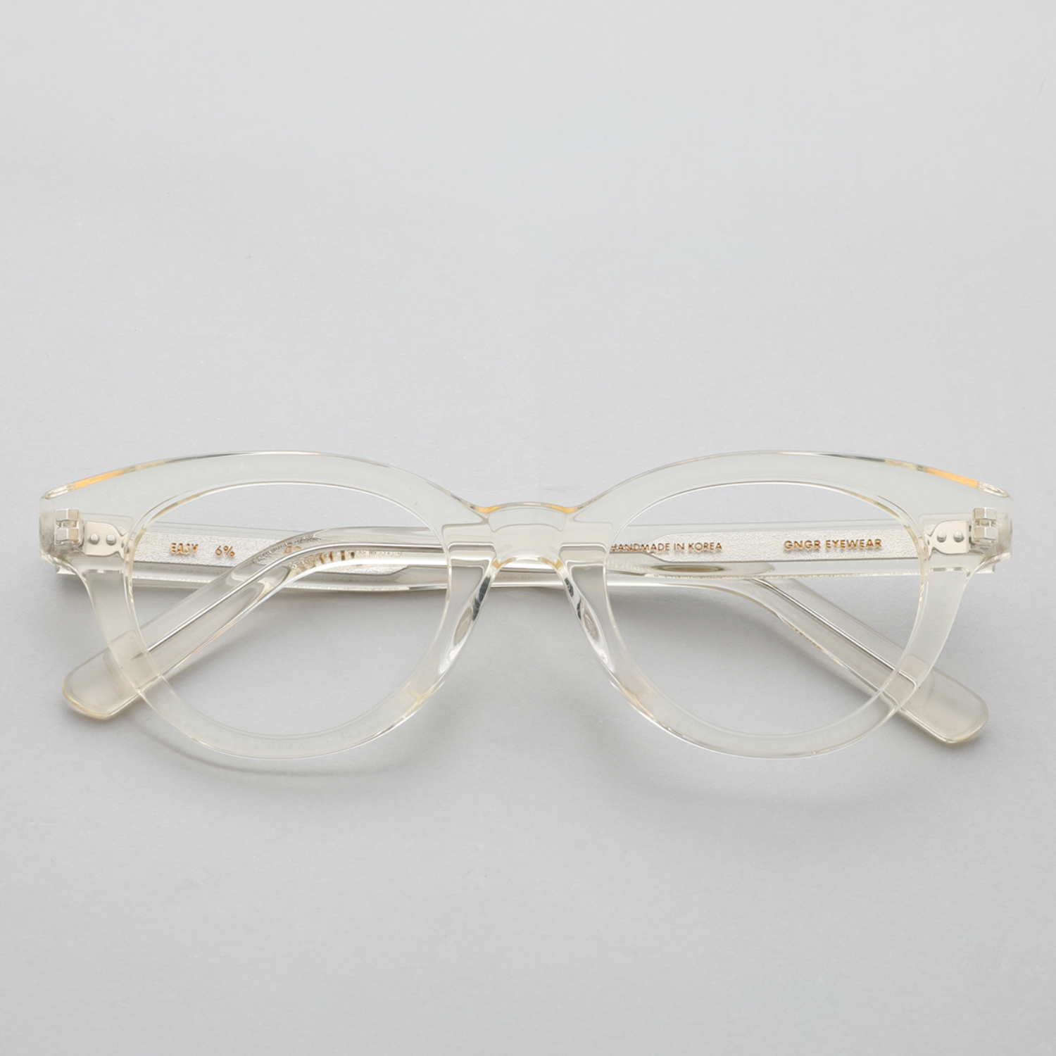 진저아이웨어 안경 이지 Easy 6% Clear yellow GINGER EYEWEAR